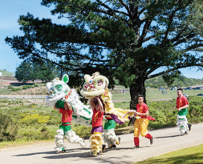 dragon dance chinese funeral home cemetery skylawn